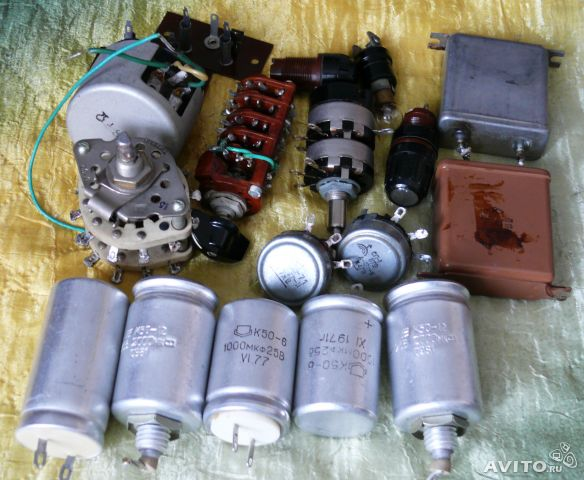 резисторы, конденсаторы,